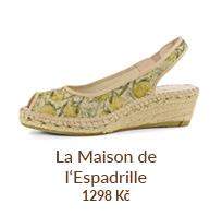 Francouzské espadrilky - sandály