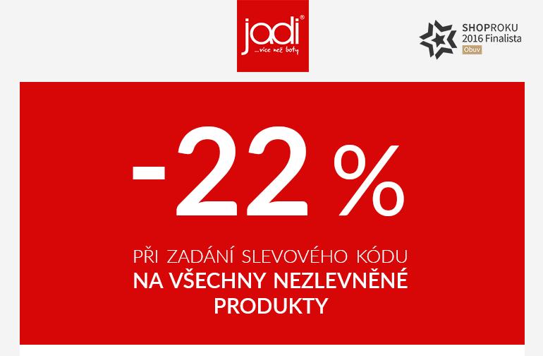 22% sleva na nezlevněné modely Gabor, Geox, Jenny by Ara, ZAXY