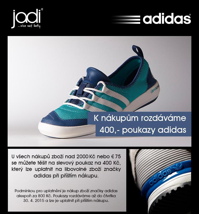 K nákupům rozdáváme poukazy na zboží adidas