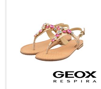 Geox sandály žabky metalické s kameny Jolanda Skin