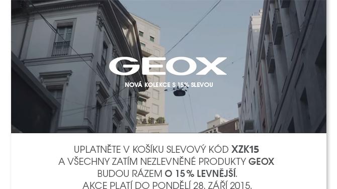 Nová kolekce Geox nyní o 15 % výhodněji