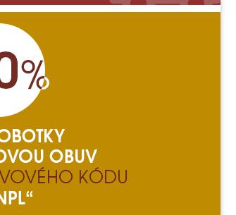 -20% na polobotky a kotníčkovou obuv