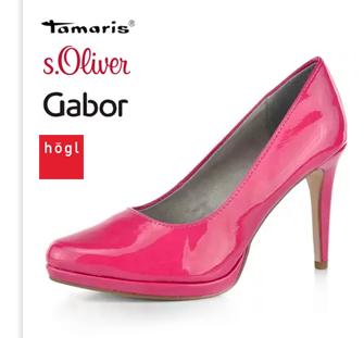 Tamaris lodičky růžové lakované Fuxia