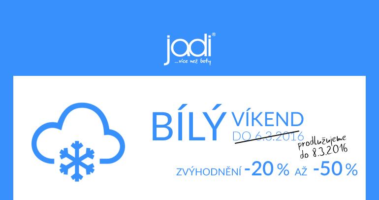 Bílý víkend v JADI - slevy 20 až 50 %