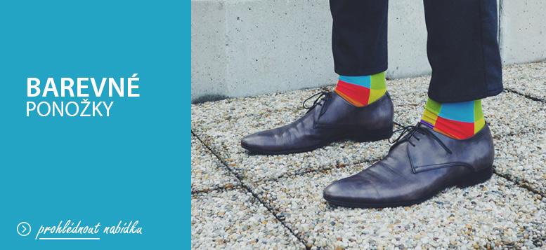Pánské barevné ponožky