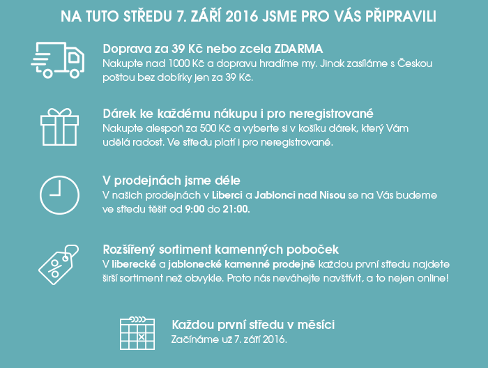 První středa v eshopu a prodejnách JADI.cz
