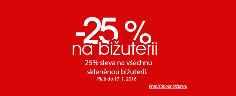 Jablonecká bižuterie s 25% slevou