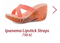 Ipanema pantofle na klínku Lipstick Straps Orange 81934