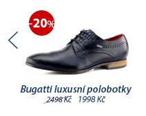 Bugatti luxusní polobotky modré 311-25202-2100